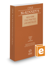 McKinney's New York Civil Practice Law and Rules, 2017 ed.