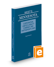 West's® Minnesota Corporation, Limited Liability Company, and Partnership Laws, 2018 ed.