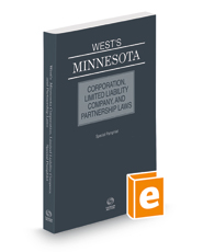 West's® Minnesota Corporation, Limited Liability Company, and Partnership Laws, 2019 ed.