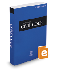 California Civil Code, 2018 ed. (California Desktop Codes)