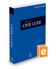 California Civil Code, 2022 ed. (California Desktop Codes)