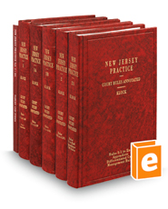 Court Rules Annotated, 6th (Vols. 1-2A, New Jersey Practice Series)