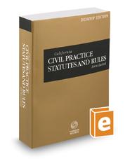 California Civil Practice Statutes and Rules Annotated, 2017 ed. (California Desktop Codes)