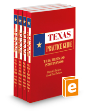 Wills, Trusts and Estate Planning, 2015-2016 ed. (Texas Practice Guide)