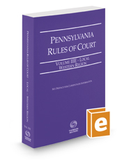 Pennsylvania Rules of Court - Local Western, 2017 revised ed. (Vol. IIIE, Pennsylvania Court Rules)