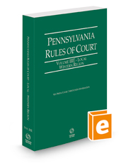 Pennsylvania Rules of Court - Local Western, 2021 ed. (Vol. IIIE, Pennsylvania Court Rules)