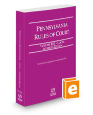 Pennsylvania Rules of Court - Local Western, 2021 revised ed. (Vol. IIIE, Pennsylvania Court Rules)