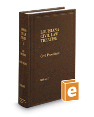 Civil Procedure, 2d (Vol. 1, Louisiana Civil Law Treatise Series)