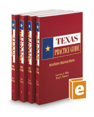 Business Transactions, 2020 ed. (Texas Practice Guide)