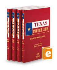Business Transactions, 2021 ed. (Texas Practice Guide)