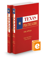 Civil Appeals, 2018 ed. (Texas Practice Guide)