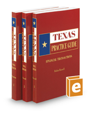 Financial Transactions, 2016 ed. (Texas Practice Guide)