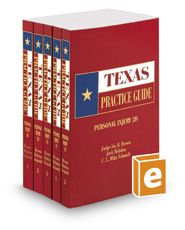Personal Injury, 2d, 2017 ed. (Texas Practice Guide)