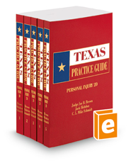 Personal Injury, 2d, 2018 ed. (Texas Practice Guide)