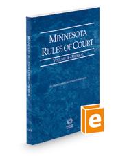Minnesota Rules of Court - Federal, 2018 ed. (Vol. II, Minnesota Court Rules)
