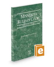 Minnesota Rules of Court - Federal, 2019 ed. (Vol. II, Minnesota Court Rules)