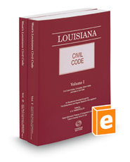 Louisiana Civil Code, 2018 ed.