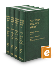 Methods of Practice, 5th (Vols. 1-2A, Wisconsin Practice Series)
