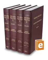 Business Organizations (Vols. 17-20, Indiana Practice Series)