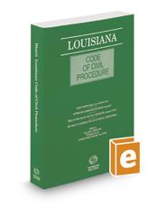 Louisiana Code of Civil Procedure, 2020 ed.