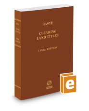 Basye Clearing Land Titles, 3d, 2017-2018 ed.