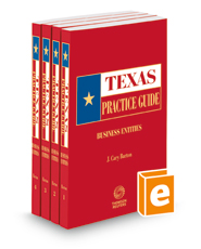Business Entities, 2017-2018 ed. (Texas Practice Guide)