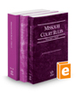 Missouri Court Rules - State, Federal, and Circuit, 2019 ed.  (Vols. I-III, Missouri Court Rules)