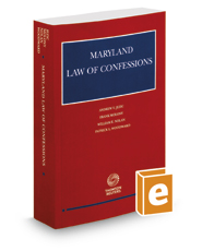 Maryland Law of Confessions, 2015-2016 ed.