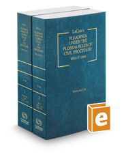 La Coe's Pleadings Under the Florida Rules of Civil Procedure, with Forms, 2016-2017 ed.