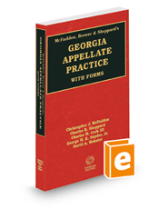 McFadden, Brewer & Sheppard's Georgia Appellate Practice with Forms, 2015-2016 ed.