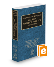 McFadden, Brewer & Sheppard's Georgia Appellate Practice with Forms, 2018-2019 ed.