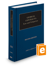 Georgia Contracts: Law and Litigation, 2d