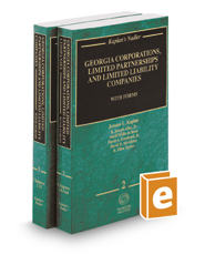 Kaplan's Nadler Georgia Corporations, Limited Partnerships and Limited Liability Companies with Forms, 2016-2017 ed.