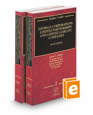 Kaplan's Nadler Georgia Corporations, Limited Partnerships and Limited Liability Companies with Forms, 2018-2019 ed.