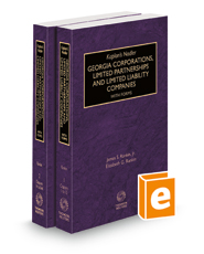 Kaplan's Nadler Georgia Corporations, Limited Partnerships and Limited Liability Companies with Forms, 2020-2021 ed.