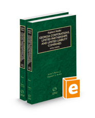 Kaplan's Nadler Georgia Corporations, Limited Partnerships and Limited Liability Companies with Forms, 2021-2022 ed.