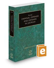 Kurtz Criminal Offenses and Defenses in Georgia, 2017 ed.