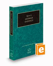 Agnor's Georgia Evidence, 2020-2021 ed.