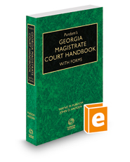 Purdom's Georgia Magistrate Court Handbook with Forms, 2015-2016 ed.