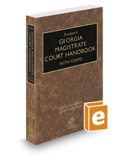 Purdom's Georgia Magistrate Court Handbook with Forms, 2017-2018 ed.