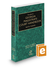 Purdom's Georgia Magistrate Court Handbook with Forms, 2019-2020 ed.