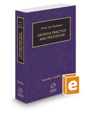 Davis & Shulman's Georgia Practice and Procedure, 2016-2017 ed.