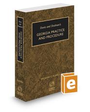 Davis & Shulman's Georgia Practice and Procedure, 2019-2020 ed.