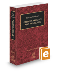 Davis & Shulman's Georgia Practice and Procedure, 2020-2021 ed.