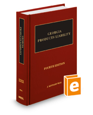 Georgia Products Liability, 4th | Legal Solutions