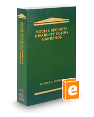 Social Security Disability Claims Handbook, 2016 ed.