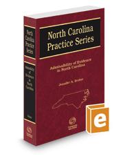 Admissibility of Evidence in North Carolina, 2018-2019 ed. (North Carolina Practice Series)
