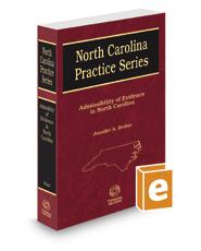 Admissibility of Evidence in North Carolina, 2020-2021 ed. (North Carolina Practice Series)