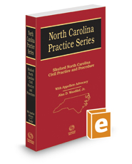 Shuford North Carolina Civil Practice and Procedure, with Appellate Advocacy, 2016-2017 ed. (North Carolina Practice Series)