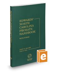 Edwards' North Carolina Probate Handbook, 2016-2017 ed.